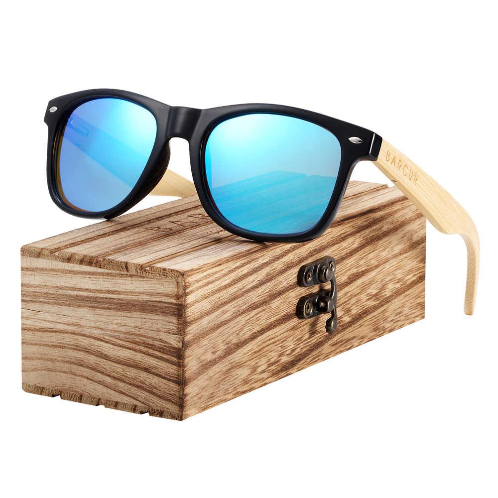 BARCUR نظارة شمسية خشبية الربيع المفصلي اليدوية الخيزران النظارات الشمسية الرجال نظارات شمس بإطار خشبي النساء الاستقطاب Oculos دي سول masculino