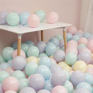 Image 5 - 30 יח\חבילה לערבב צבע Macaron בלוני חתונת מסיבת יום הולדת 2.2g ורוד מנטה עלה אוויר הליום לטקס חתונה דקור Balon תינוק מקלחת
