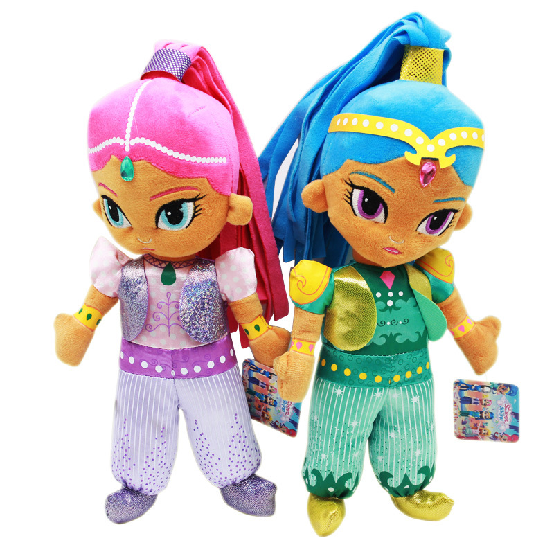 Shimmer Sister Action Figure Plush Toys Cute Shine Girl Dragon Dolls 30CM For Baby Party Gift