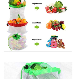 Image 4 - 12pcs Reusable Mesh Produce Bags Washable Eco Friendly Bags Shopping Bags for Grocery Shopping Storage Fruit Vegetable Toys