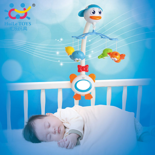 Swan Mobiles Bebe Musical Baby Toys Infant Chocalhos Rattles Brinquedos Bebes Free Shipping Huile Toys 858