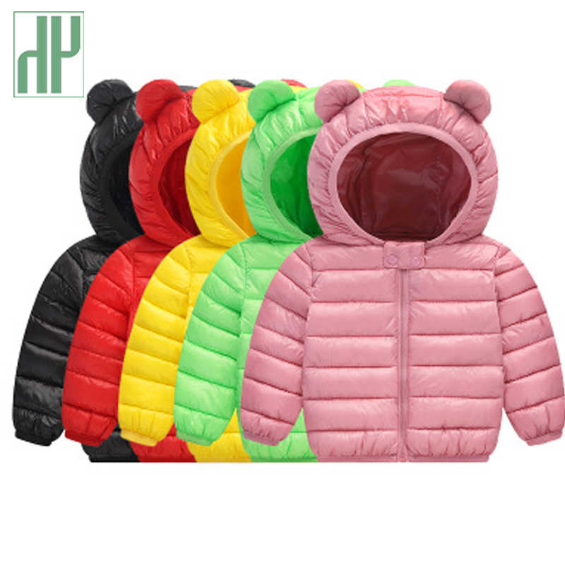 e5d4fda4c HH Girls winter coat Spring Autumn Kids Jacket Boys Hooded Outerwear enfant Baby  Clothes Lightweight down