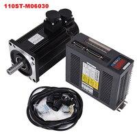 6N.M 1.8KW 3000RPM 110ST AC Servo Motor 110ST M06030 + Matched Servo Driver +cable complete motor kits
