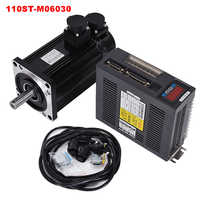6N.M 1.8KW 3000RPM 110ST AC Servo Motor 110ST-M06030 + Matched Servo Driver +cable complete motor kits