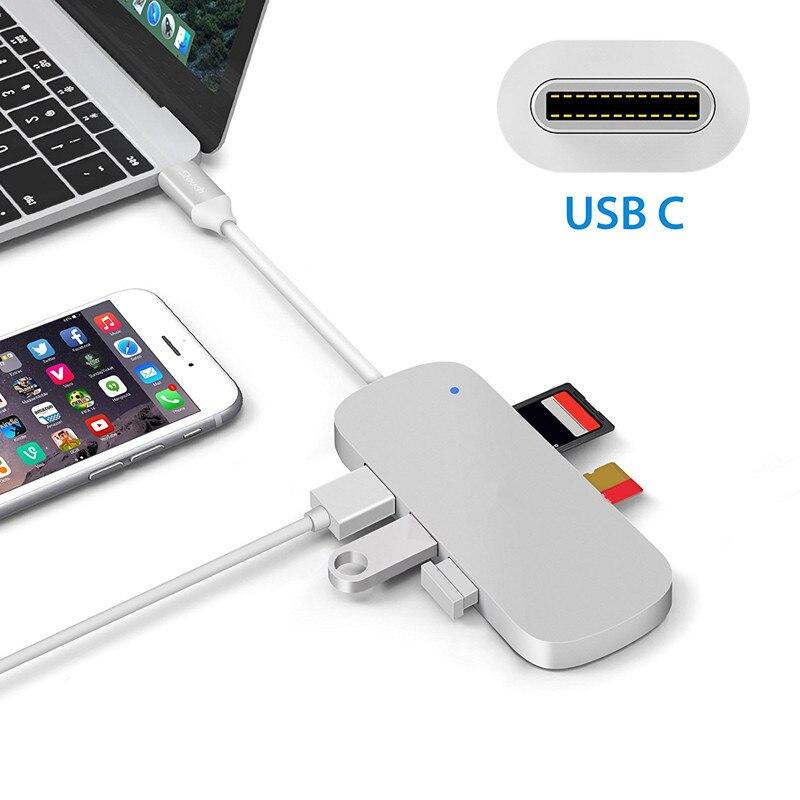 3 USB C Hub to HDMI Adapter Thunderbolt USB C Hub Dock with USB 3 0