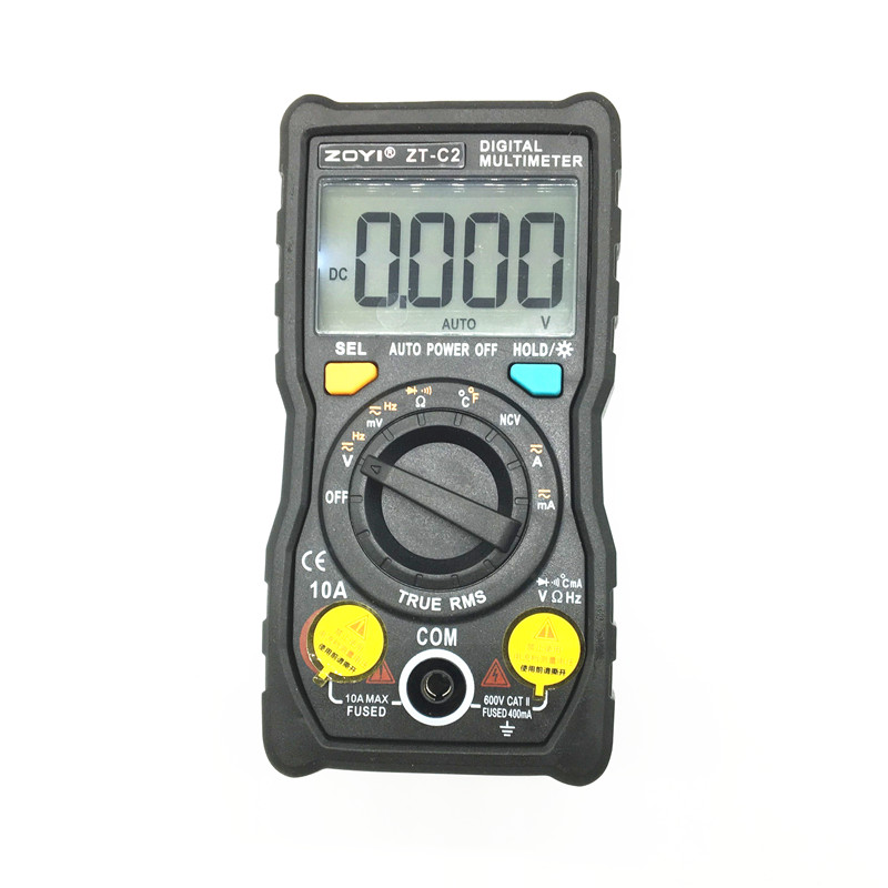 Digital Multimeter Temperatur Auto-Ranging True-RMS intelligente NCV 4000 Zählt AC/DC Spannung Strom 40 mt ohm ZT-C1 ZT-C2