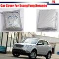 Nueva Cubierta Del Coche SUV Protector Solar Contra los RAYOS UV Lluvia Nieve Cubierta Resistente Para Ssang Yong Korando