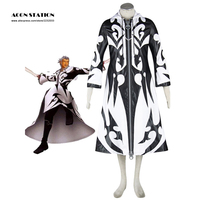 2017 Free Shipping Costume Kingdom Hearts Cosplay Organization XIII Xemnas Robe Halloween Cosplay Costume For Adult and Kid