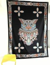 Owl Print Indian Mandala Tapestry