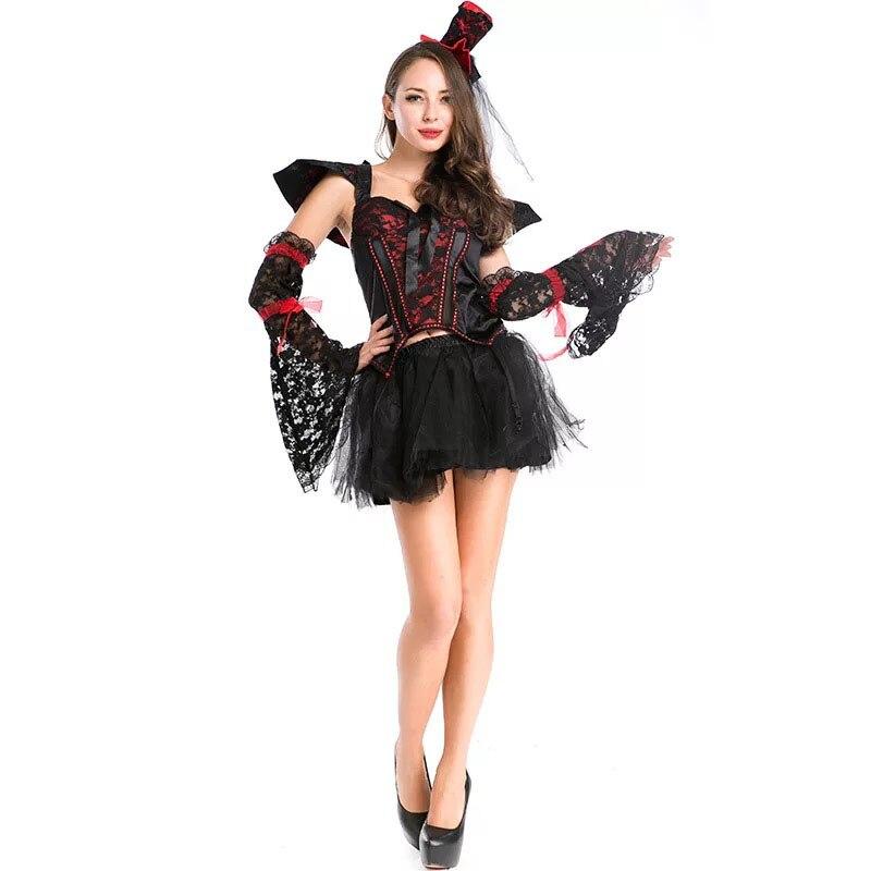 Adult Women Halloween Vampire Witch Costume Ladies Sexy -3625