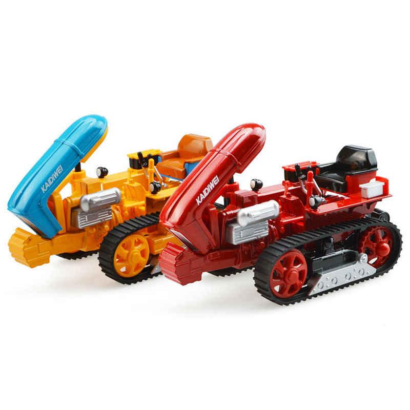 Paduan Teknik Caterpillar dengan Kompartemen Simulasi Kendaraan Model Pertanian Mainan Anak Hadiah Ulang Tahun