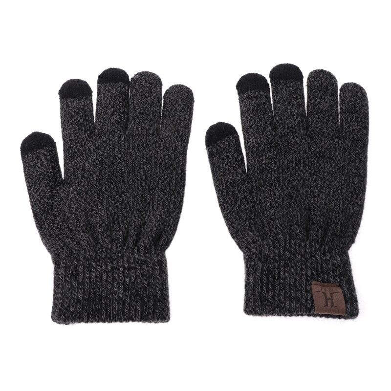 3 Pcs Unisex Männer Frauen Stricken Hut Schal Touch Screen Handschuhe Warme Winter Set Solide Eine GroßE Auswahl An Modellen