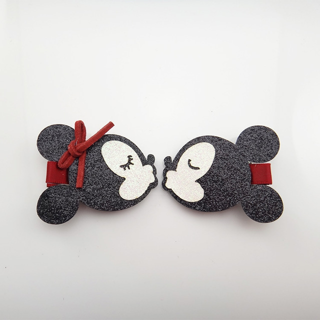 2018 nuevo lindo Minnie Mouse orejas horquilla niñas niños pinzas para el pelo  accesorios para niños d64e849240a5