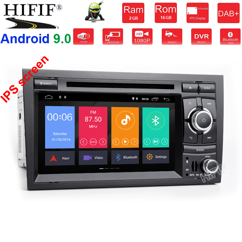 IPS DSP For <font><b>Audi</b></font> <font><b>A4</b></font> S4 RS4 8E 8F B9 B7 <font><b>B6</b></font> 2 din 4G 8 core Android 9.0 Car radio dvd <font><b>multimedia</b></font> player stereo GPS wifi obd2 image