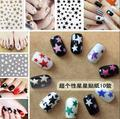 3D cute stars nail stickers glitter star ornaments nail art tool nail  accessories