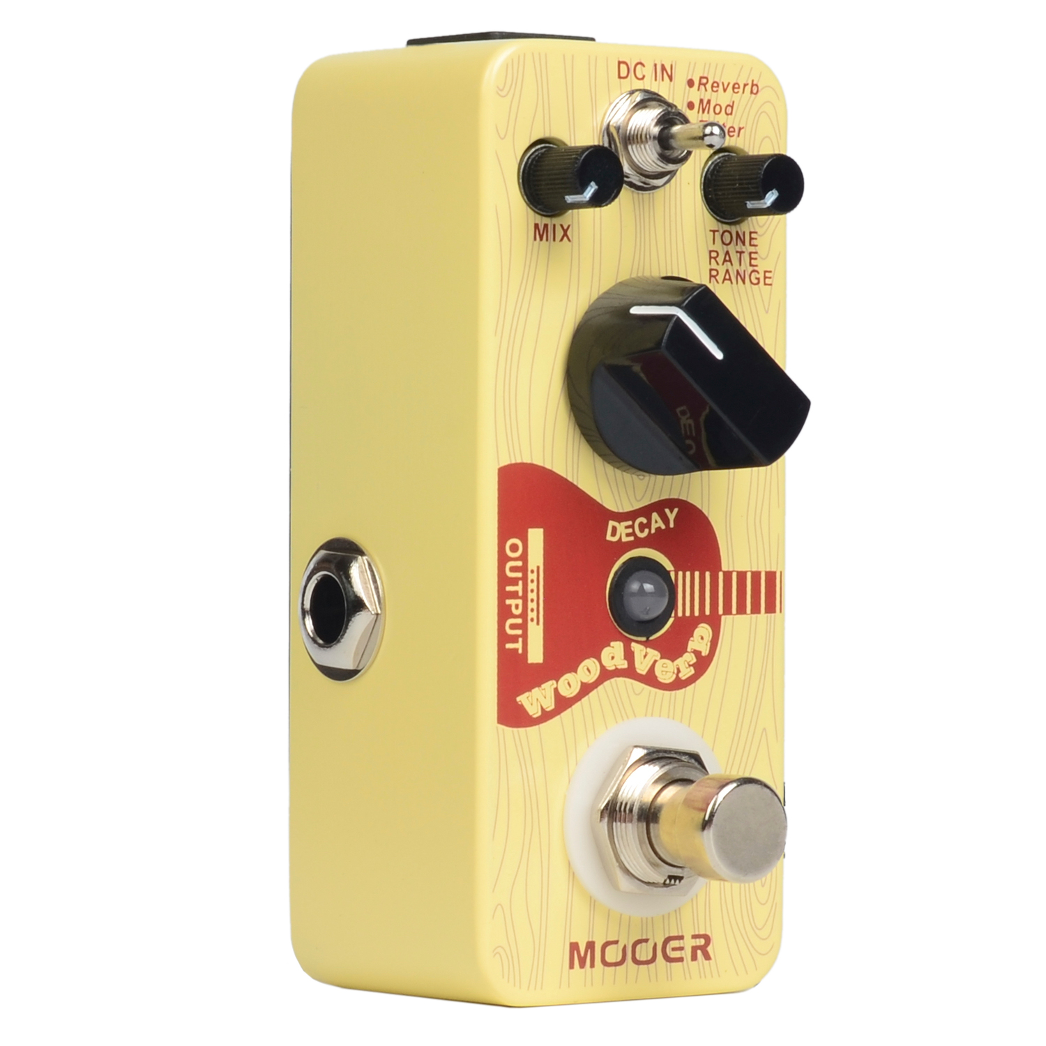 Mooer Wood Verb Reverb Digital Effects Acoustic Guitar Effect Pedal Tiny size True bypass MRV3 aroma aov 3 ocean verb digital reverb electric guitar effect pedal mini single effect with true bypass