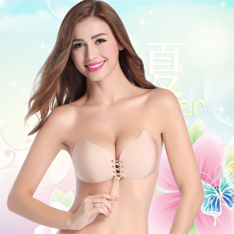 Push Up Bra Self Adhesive Strapless Bandage Blackless ...