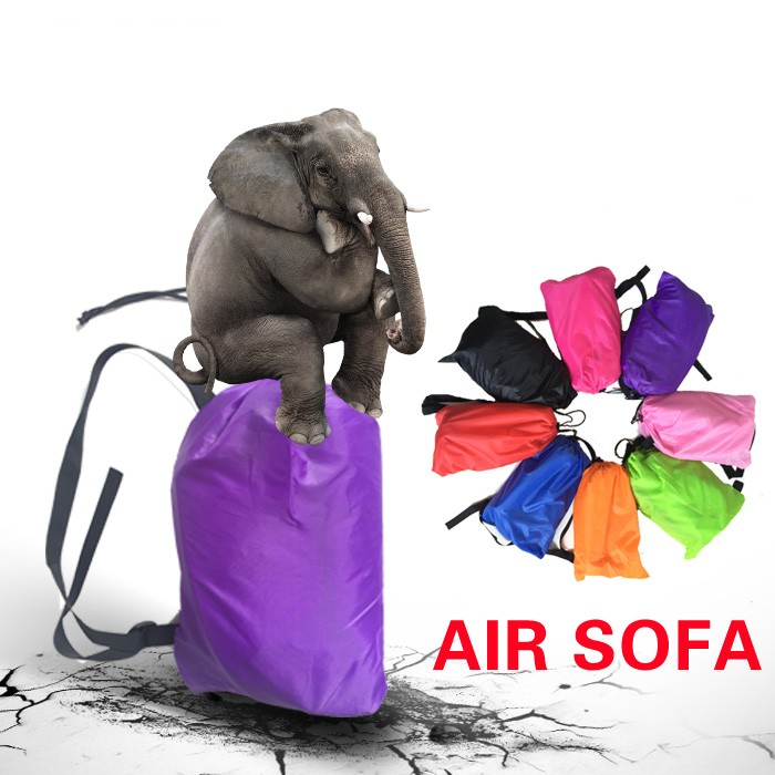 free shipping sleeping inflatable air sofa camping multicolor air lounger hangout laybay bolsa termica lazy bag ...