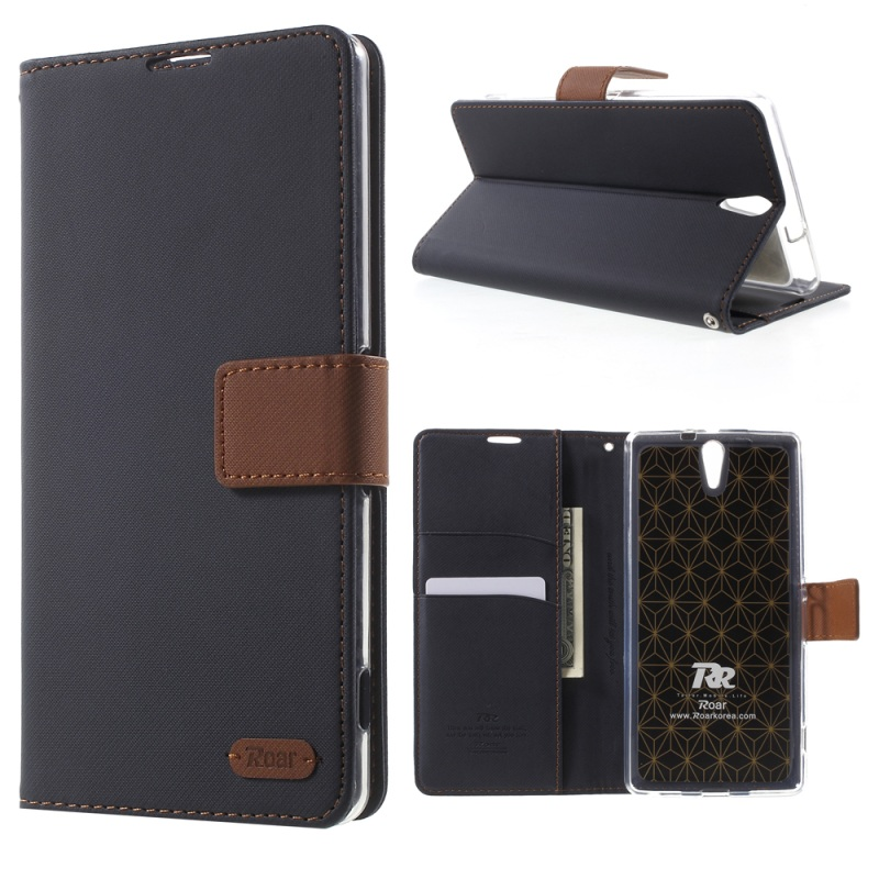ROAR KOREA for Sony Xperia C5 Ultra Case Wallet Stand Leather Case for Sony Xperia C5