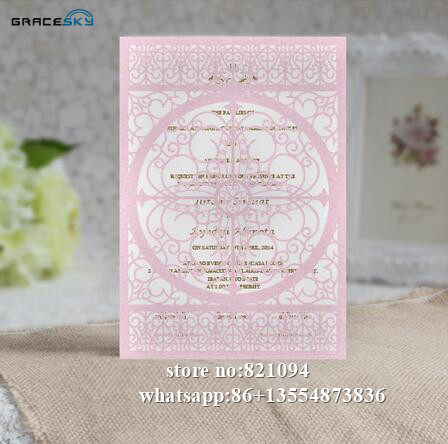 Us 48 99 50pcs Free Shipping Laser Cut European Simple Style Paper Wedding Invitation Cards With Inner Blank Paper For Party Supplies In Cards