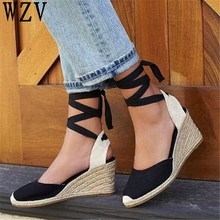 b37bb79b943 Big size 42 Platform Sandals Wedge Women High Heels Round Toe Rome women  Sandals Fashion Female. 2 Colors Available