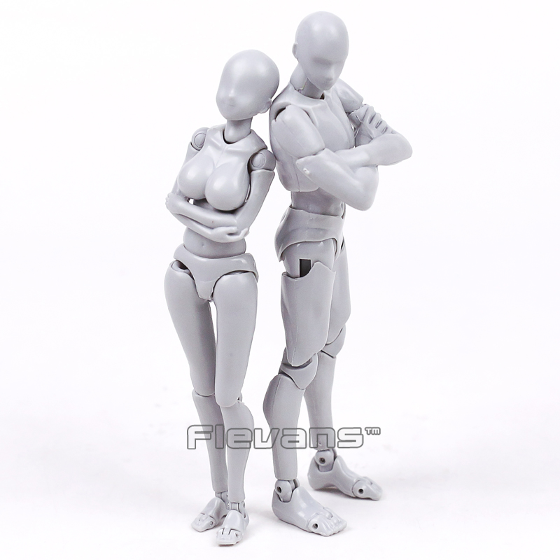 Anime SHFiguarts BODY KUN / CHAN DX SET Gray Color Ver. PVC Action Figure Collectible Model Toy 14cm 2 Styles anime dragon ball super saiyan 3 son gokou pvc action figure collectible model toy 18cm kt2841