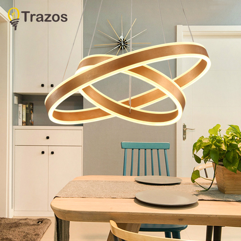 New modern led Pendant Light for living room bedroom dining room acrylic iron body Indoor home Pendant  lamp lighting fixtures new led wall light creative footprint dimming lamp for bedroom dining room lamp acrylic circular sitting room lighting