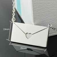 3UMeter Free Shipping Love Letter Book Pendants COUPLE NECKLACES Korean 925 Sterling Sliver Lovers Jewelry Christmas