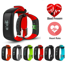 Smartband Часы Кровяное Давление Bluetooth Смарт Браслет Монитор Сердечного ритма Смарт Браслет Фитнес для Android IOS Телефон