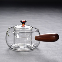 Handmade Heat resistant Glass Teapot Japanese Kung Fu Single Handle Pot Boiling Flower Teapot Tea Ceremony Accessories Teaware