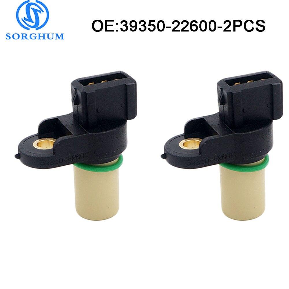 New 2PCS 39350-22600 Camshaft Position Sensor For Hyundai Accent 2000-2005 1.5/1.6L TDC Sensor Engine Code: 12V/16V, ALPHA G4ED