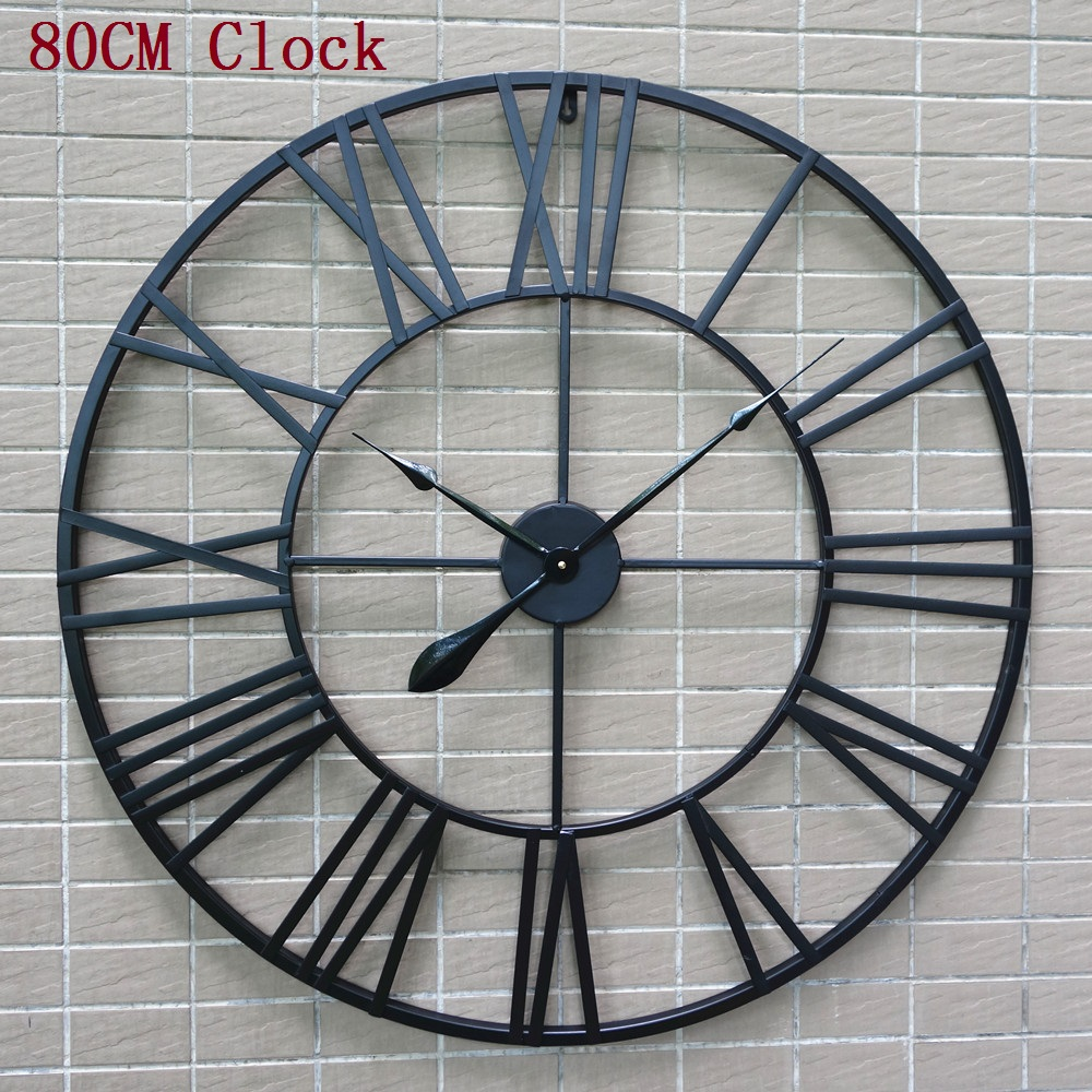 80cm large wall clock saat clock reloj duvar saati digital wall clocks horloge murale relogio de. Black Bedroom Furniture Sets. Home Design Ideas