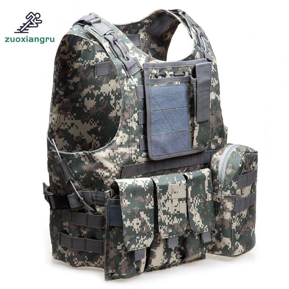 Unloading Camouflage Tactical Hunting Vest Multi-pocket Classic Waistcoat For Men Male Solid Combat Vest Masculino Plate Carrier men s multi pocket camouflage fishing vest summer autumn hunting outdoor travel waistcoat quick dry zip jacket l xxxxl