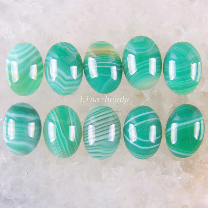 Free Shipping New without tags Fashion Jewelry Natural Green Veins Onyx CAB Cabochon 10Pcs RK1616