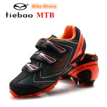 TIEBAO MTB Cycling Shoes Racing AutoLock SelfLock Bike SPD Bicycle Mountain Shoes For Men Women Scarpa Da Ginnastica Anti-slip