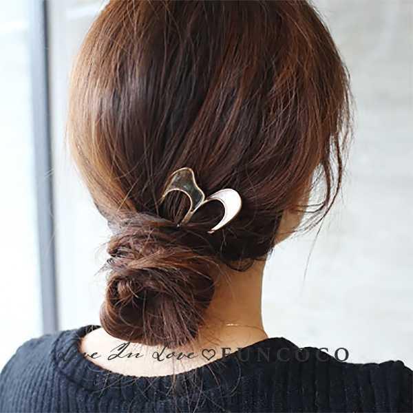 Chic Simple Conch Shell Alloy U-Shape Hairpin Hair Stick Hair Fork Chopsticks