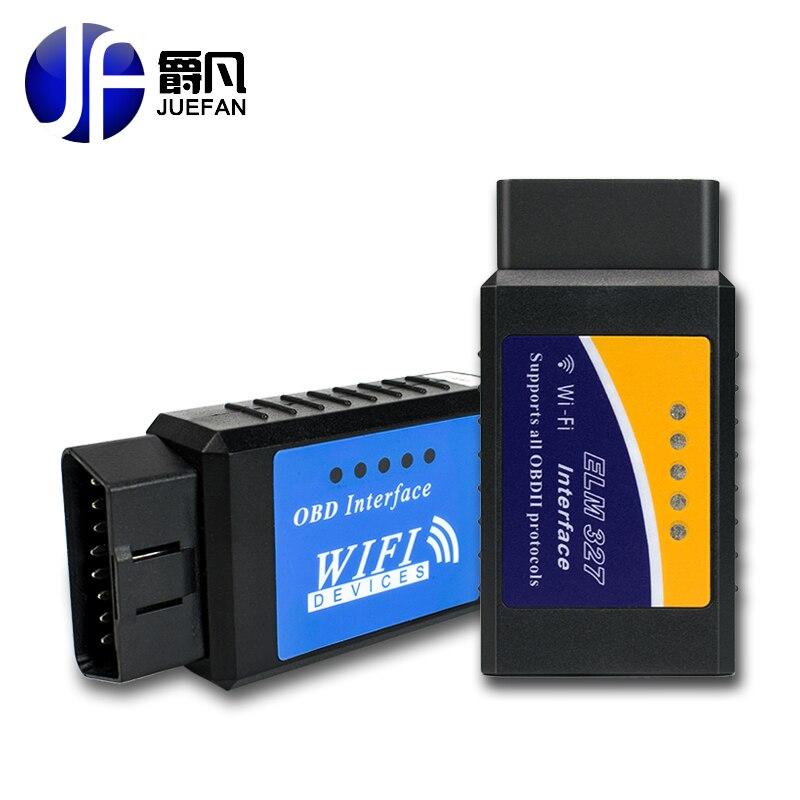 Hot! dernière Version ELM327 WIFI OBD2/OBDII Auto Diagnostic Scanner outil ELM 327 WiFi libèrent le bateau wifi obd2 elm327 wifi elm327