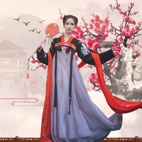 Hanfu National Ancient Chinese Cosplay Costume Lady Chinese Stage Performance Red Ancient Women Chinese Hanfu Clothes DQS1631