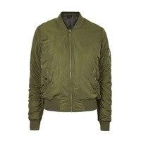 2016 parkas Inverno básico legal bombardeiro Vôo jaqueta Verde Do Exército Das Mulheres para baixo casaco jaqueta Acolchoada com zíper motociclista chaquetas outwear