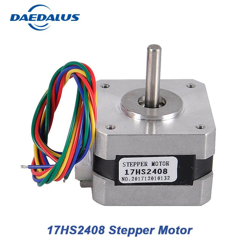 цены 1PCS 17HS2408 4-lead Nema 17 Stepper Motor 2 Phase Hybrid 42 motor 42BYGH 0.6A CNC Laser 3D Printer Motor With Cable Wire