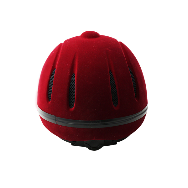 CE certification 2018 riding horse sports equestrian woman helmet red adjustable  helmet with fluff  1