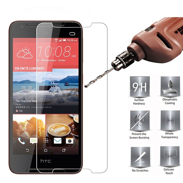 For HTC Desire 628 Premium 9H Tempered Glass For HTC Desire 628 Dual Sim Screen Protector Protective Film Templado Cristal Filmo