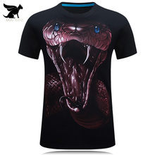 DOG KING 24 colors Men Fashion 2017 3D Printed Short Sleeve T-Shirt Homme Casual Brand Clothing O-neck Male T Shirt Cotton Tees