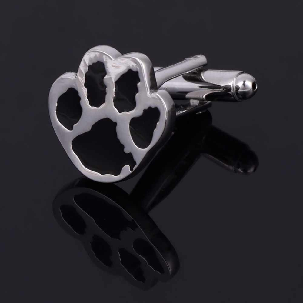 1 Pair Novelty Dog Paw Design Men's  Jewelry Gift Shirt Cufflinks Cuff Links For Wedding Party Business