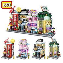 LOZ Mini Street Town Mini Blocks Convenience Store Musical Instruments Shop Cake Shop Bookstore Offical Authorized Distributer(China)