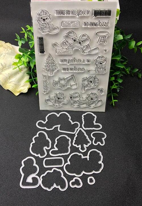 Buliding la Coupe des Métaux Meurt et timbre Pochoirs pour le BRICOLAGE Scrapbooking/photo album Décoratif Gaufrage BRICOLAGE Papier Cartes de Faire Proj