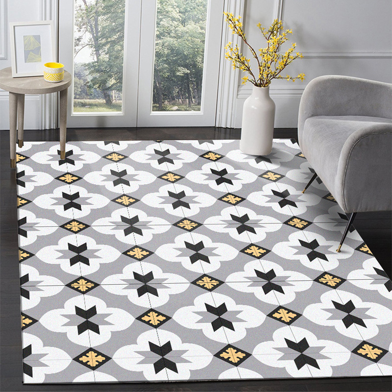 Yellow Flower Printed Carpets