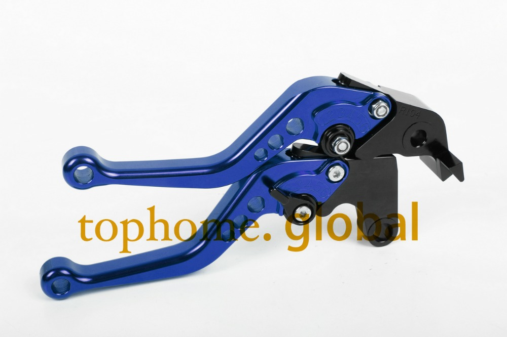 Motorcycle Accessories CNC Clutch Brake Levers For Yamaha YZF R6 2005-2014 2006 2007 2008 Blue Handlebar Short Brake Lug grips cnc long adjustable racing clutch brake levers for yamaha yzf r1 2004 2005 2006 2007 2008