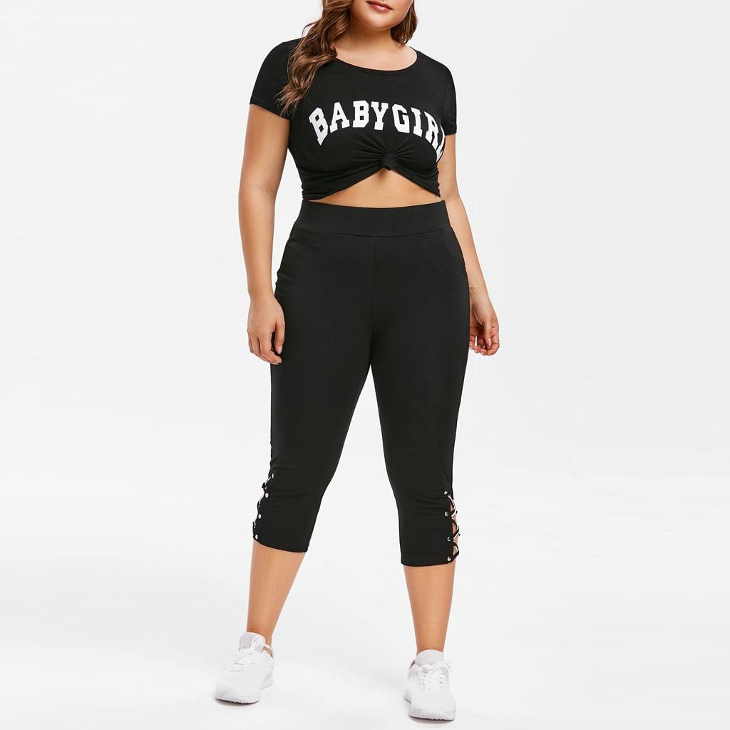 2019 Hot Salling Plus Size 5XL Women NEW Casual Cross Straps Leggings Seven Points Sport Cropped Trousers Pants Wholesale брюки