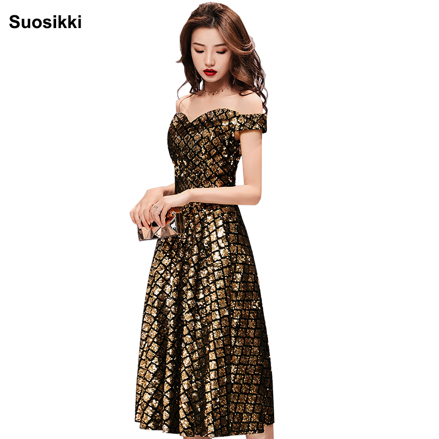Prom Dress 2018 Sequin Elegent Sweetheart  Evening Formal  Dresses Short New For Junior Girls Homecoming Sparkly Formal Dress